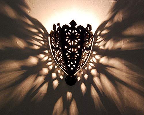 Wandleuchte Wandleuchte Laterne aus Schmiedeeisen Marokko Ethnic 0807191225