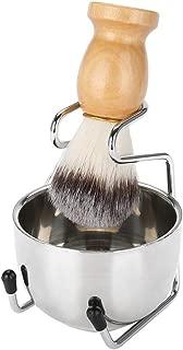 Shaving Set with Soap Dish + Shaving Brush + Stand Holder, Men's Grooming Set Natural Boar Bristle Beard Brush Kit Pure Badger Hair Shaving Brush, Razor Gift Sets for Men, Manual Shaving Kit