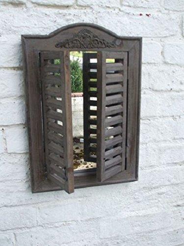 Dekorativer Spiegel m. Fensterläden,Wandspiegel 45x31 cm, Impressionen