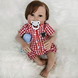 Ldjvfb Reborn Baby Doll Girl,Real Tough for Kids and Partner.Soft Weighted Body,Cute Lifelike Handmade Silicone Sleeping Doll