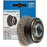 PFERD - Cepillo para ollas (diámetro de 60 mm, sin olla, alambre de acero inoxidable de 0,30 mm, grabación X-LOCK, para un cambio de herramientas rápido y cómodo