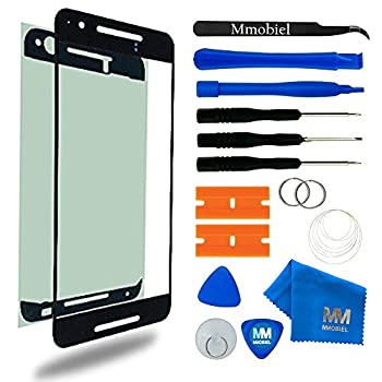 MMOBIEL Front Glass Replacement Compatible with Huawei Nexus 6P Series  Black  Display Touchscreen incl Tool Kit