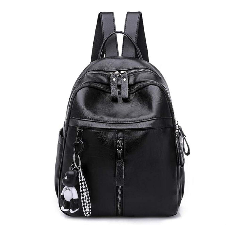 Sxuefang Women Leather Backpack Fashion Sports Backpack Women's Fashion Bag 30x15x23cm