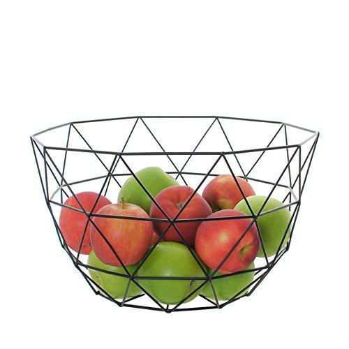 Eclectic House Noir Géométrique en Fil Métal/Display Panier de Rangement Déco Bol de Fruits