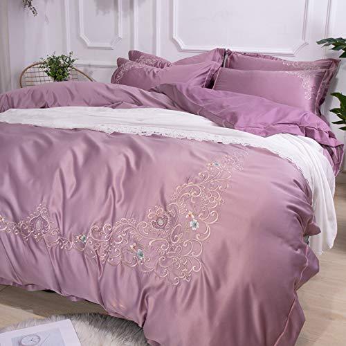 Yaonuli serie Venus 4-delig geborduurd in bed van 1,8 m Venus – Houmous 4-delige set in bed met 1,8 m (geschikt voor 200 x 230 cm)