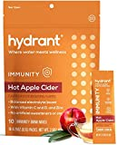 Hydrant Immunity Hot Apple Cider Flavor 10 Pack - Hydration Powder Packets for Energy Boost & Immunity Support, Easy Open Drink Electrolyte Powder