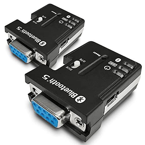 Paquete de 2 adaptadores serie Bluetooth 5.0 de modo dual