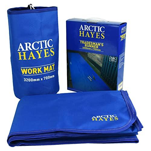 Arctic Hayes Tapis de travail antidérapant, imperméable et résistant aux produits chimiques (3200 mm x 700 mm), convient pour une utilisation en intérieur et en extérieur