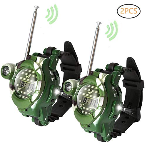 Walkie Talkie for Kids, Two-Way Radio Walky Talky Watches with Flashlight Children Outdoor Game Interphone Toy Game and Gifts for Boy and Girl - 2 Pack