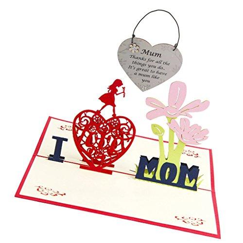 3D Tarjeta de Felicitación de Día de Madre Regalos de Cumpleaños de Mamá dornos De Placa De Madera Gracias