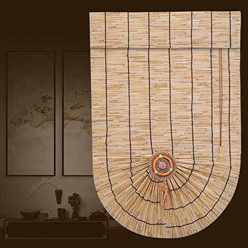 S-AIM Rodillo Ventana Ciego Caña Romano Sombreado para Cubierta, Eco/Impermeable/Respetuoso del Medio Ambiente, para balcón, Jardín, Al Aire Libre, Personalizable tamaño