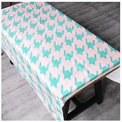 Qishi Mantel de franela rectangular de escritorio de mesa de