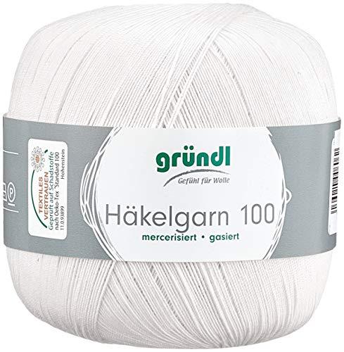 Gründl Vorteilspack Häkelgarn, Baumwolle, Creme, 30 x 21 x 11 cm, 6 Stück