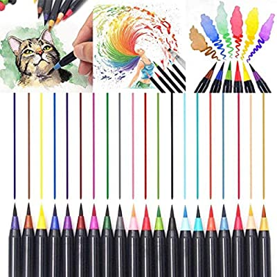 Corgy Soft Tip Painting Brush Refillable Watercolor Markers Calligraphy Permanent Markers