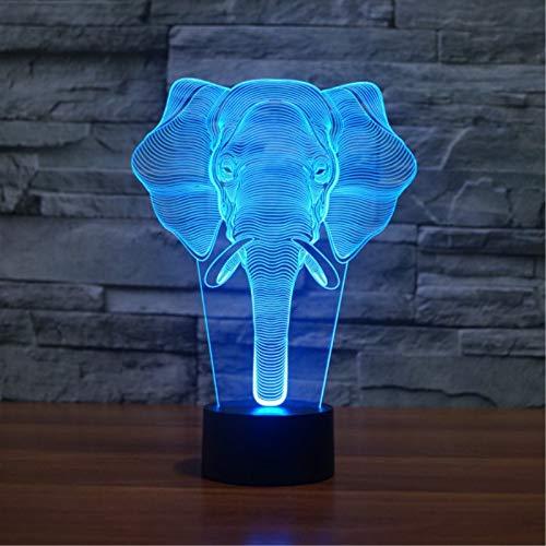 Elefant Scheinwerfer Farbe Ersatz Tischlampe Lampe Neuheit Nachtlicht