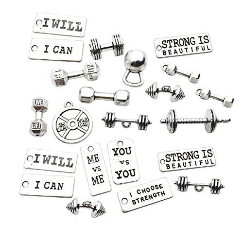 Craft Supplies - Dijes mezclados para manualidades, joyería, accesorios para hacer collares y brazaletes