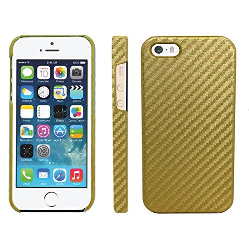 Gorilla Tech - Cover Posteriore in Fibra di Carbonio per Apple iPhone 5 da 4,7', Colore: Oro