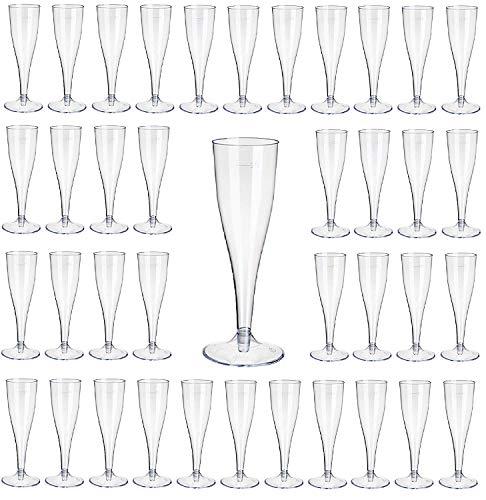 Gastro-Bedarf-Gutheil 100 Champagnerglas/Sektglas 0,1/100ml Eichstr./m.klarem Fuß/2-t