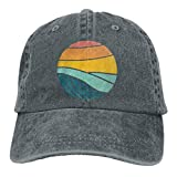 XCNGG Hombres 's/Women' s Vintage Sea Wave On Sunset Gorra de béisbol de Mezclilla de algodón Sombrero Ajustable para papá