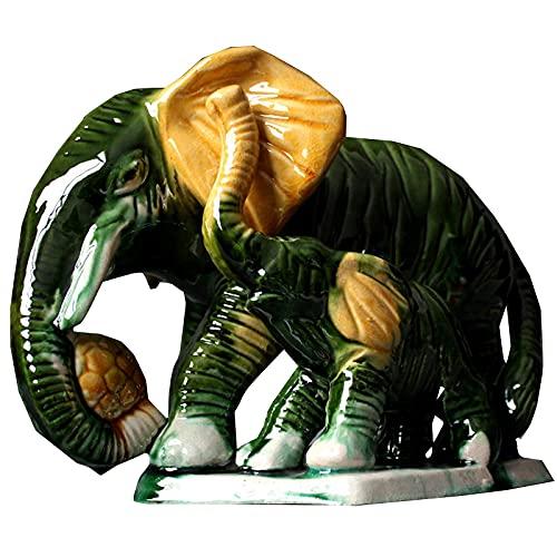 Estatuas y esculturas de Leones Figuras de Animales Decoración de Coche con Esmalte de Colores, el Mejor cumpleaños para Hombres, Multicolor