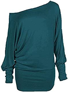 Momo&Ayat Fashions Ladies Lightweight Off Shoulder Batwing Slouch Tunic Top AUS Size 8-30