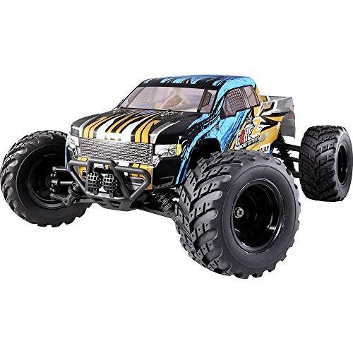 Reely Brushed 1:10 XS RC Einsteiger Modellauto Elektro Monstertruck Allradantrieb (4WD) RTR 2,4 GHz inkl. Akku und Lade