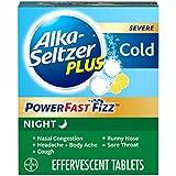 Alka-Seltzer Plus Severe Night Cold PowerFast Fizz Lemon Effervescent Tablets, 20ct