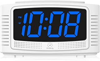 DreamSky Simple Alarm Clock with Snooze, 1.2 Inch Clear Led Digit Display with Dimmer, Electronics Clock for Bedrooms Kids and Gift