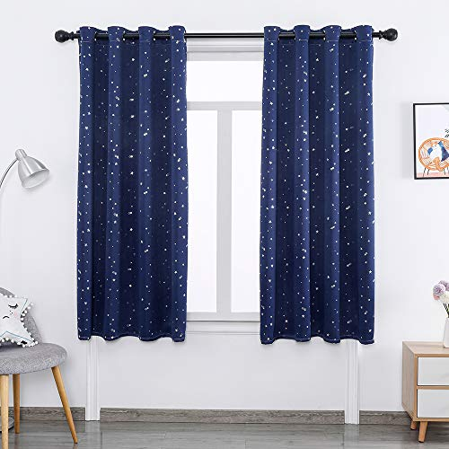 DDSGG Blackout Window Curtains, Bedroom Full Blackout Curtain Panel, Darkening and Heat Insulation Curtains in The Room, Suitable for Bedroom and Living Room,W52xL96inch/ 132243CM