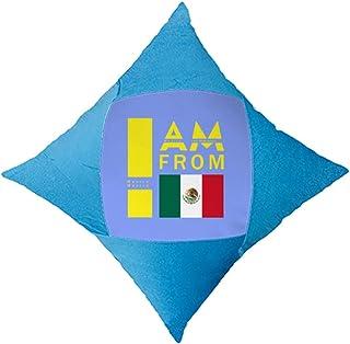 OFFbb-USA I Am from México - Funda de almohada azul para cama de coche
