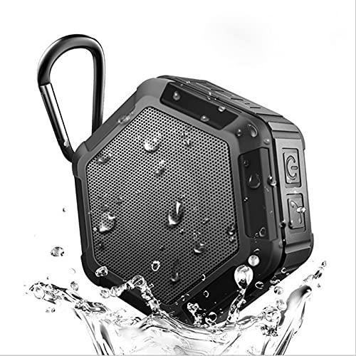 ZUIZUI Altavoz Bluetooth para Exteriores, Subwoofer Inalámbrico Portátil A Prueba De Agua, con Gancho De Seguridad para Acampar, Escucha De Música Durante Mucho Tiempo,Negro