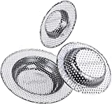 Hair Drain Catcher,Sink Strainer,Drain Cover,Hair Catcher Shower Drain,Sink Drain Strainer,Sink Stopper,Shower Drain Hair Trap (One Pack)