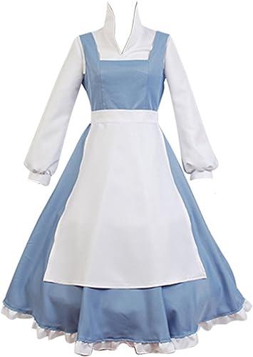 Dienstmädchen Kleid Prinzessin Kostüm Cosplay Hellblau Damen XXXL