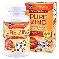 Pure Micronutrients Zinc Supplement, Natural Zinc Glycinate Supplements, (Chelated) 25mg, 120