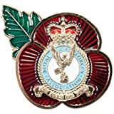 RAF Royal Air Force Association Remembrance Day New Crest Poppy Pin Badge