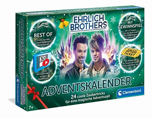 Clementoni 59180 Ehrlich Brothers Adventskalender der Magie 2020, magischer Weihnachtskalender, mit 24 coolen Zaubertricks, Zauberkasten für Kinder ab 7 Jahren