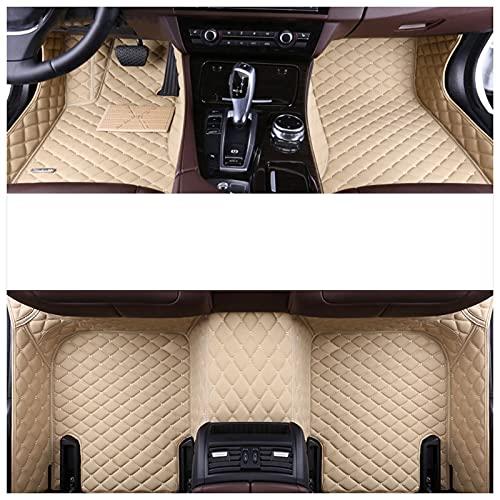 BEROVE Alfombrillas de Cuero Personalizadas Fit for Kia K3, Alfombrillas de Alfombra de Cobertura Completa para Todo Clima Alfombrillas de Suelo Personalizadas para Camiones(Color:Beige)