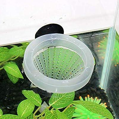 Hemore Futterspender für Aquarien, Design roter Wurm, Kunststoff, Kegelform, zum Füttern von Fischen mit Saugnapf