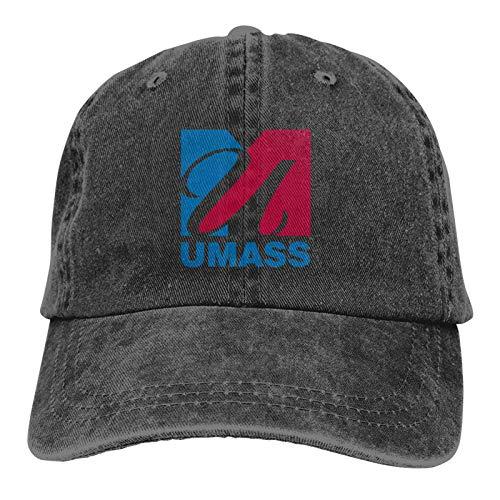 Doriis University of Massachusetts Cowboy hat Baseball Cotton Unisex Adjustable hat Black