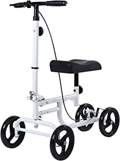 BEYOUR WALKER Most Affordable Knee Scooter Walker for Foot Ankle Injuries Crutches Alternative White