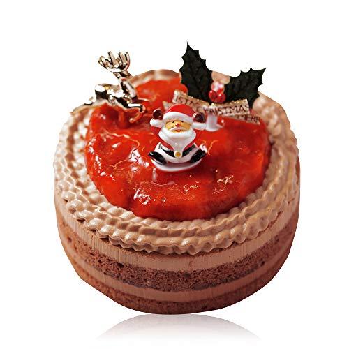 【Morin チョコ クリスマスケーキ 7cm x 12cm】ショートケーキ ホール Xmasケーキ チョコレートケーキ 予約 チョコレート イチゴ 苺 いちご チーズ チョコショート マスカルポーネ サンタ ケーキ デザート ギフト スイーツ プレゼント ( 2名 ~4名)
