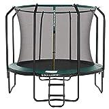 SONGMICS Trampolin 305 cm, rundes Gartentrampolin mit Sicherheitsnetz und Leiter, gepolstertes...