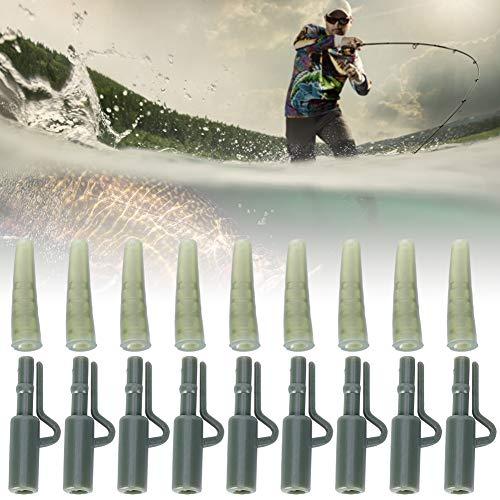Redxiao 50 Juegos de Manga de Plomo de Pesca de Carpa, Accesorio de Pesca de Carpa, Clip de Plomo de Pesca de Carpa, para atraer Peces de mar/Pesca Fresca Aparejos de Pesca Amante de la Pesca