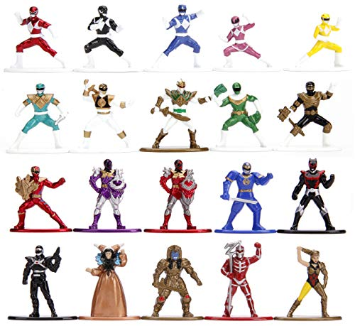 Power Rangers 1.65' Die-cast Metal Collectible Figures 20-Pack, Toys for Kids and Adults