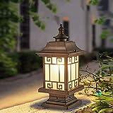 HYLH Paesaggio Rurale Impermeabile Colonna Luminosa da Esterno Lampada a Colonna Cortile comunitario Giardino Prato Luce da Pavimento Cortile Rustico Paesaggio Lampioni Stradali Classica Recinzione e