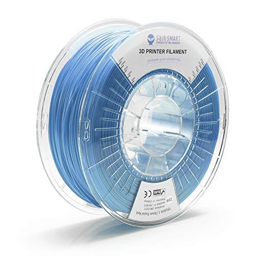 SainSmart TPU 1.75mm 92A Flexible TPU 3D Printer Filament, Dimensional Accuracy +/- 0.04 mm, 1KG, Pastel Blue