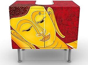 Design Vanity Taipei Buddha 60x55x35cm, small, 60cm wide, adjustable, wash basin, vanity unit, washstand, bathroom cupboard, base unit, bathroom, narrow, flat