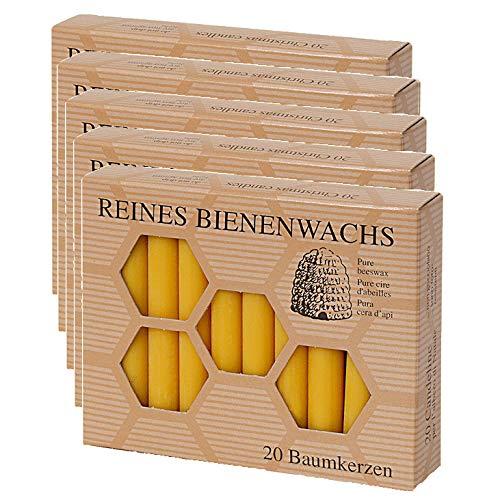 100% Bienenwachs Baumkerzen (100 Stk.) Christbaumkerzen