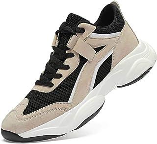 Bitiger - Scarpe da ginnastica da uomo con lacci e lacci per scarpe da ginnastica da uomo, altezza 8 cm, traspiranti e con...