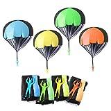 Herefun 10 Piezas Juguetes de Paracaídas Set, Mano Que Lanza el Juguete del Paracaidista, Mini Paracaidista de Juguetes al Aire Libre para Niños Regalo Fiesta Cumpleaños (B)
